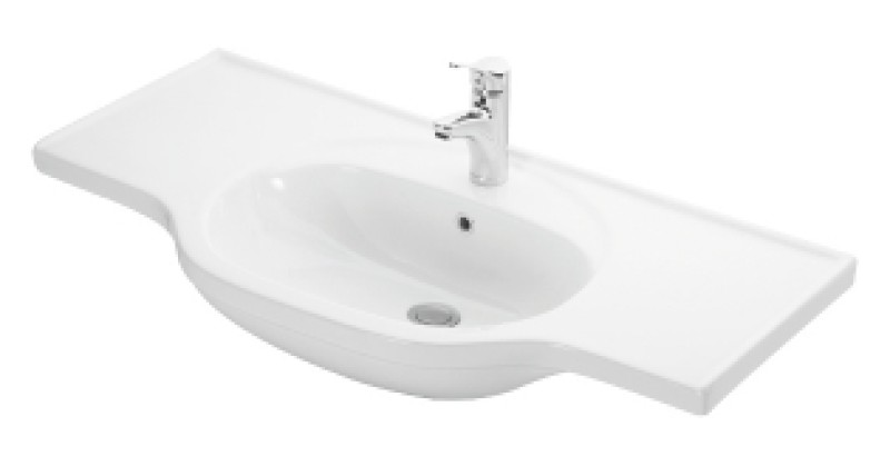 Lavabo A Consolle In Ceramica.Consolle Lavabo In Ceramica Bianca Cp 102hemera Lineabeta Outlet